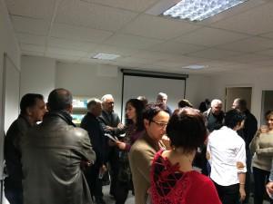 Rencontre entre l'équipe, les bénévoles et les membres du bureau de la mission locale.