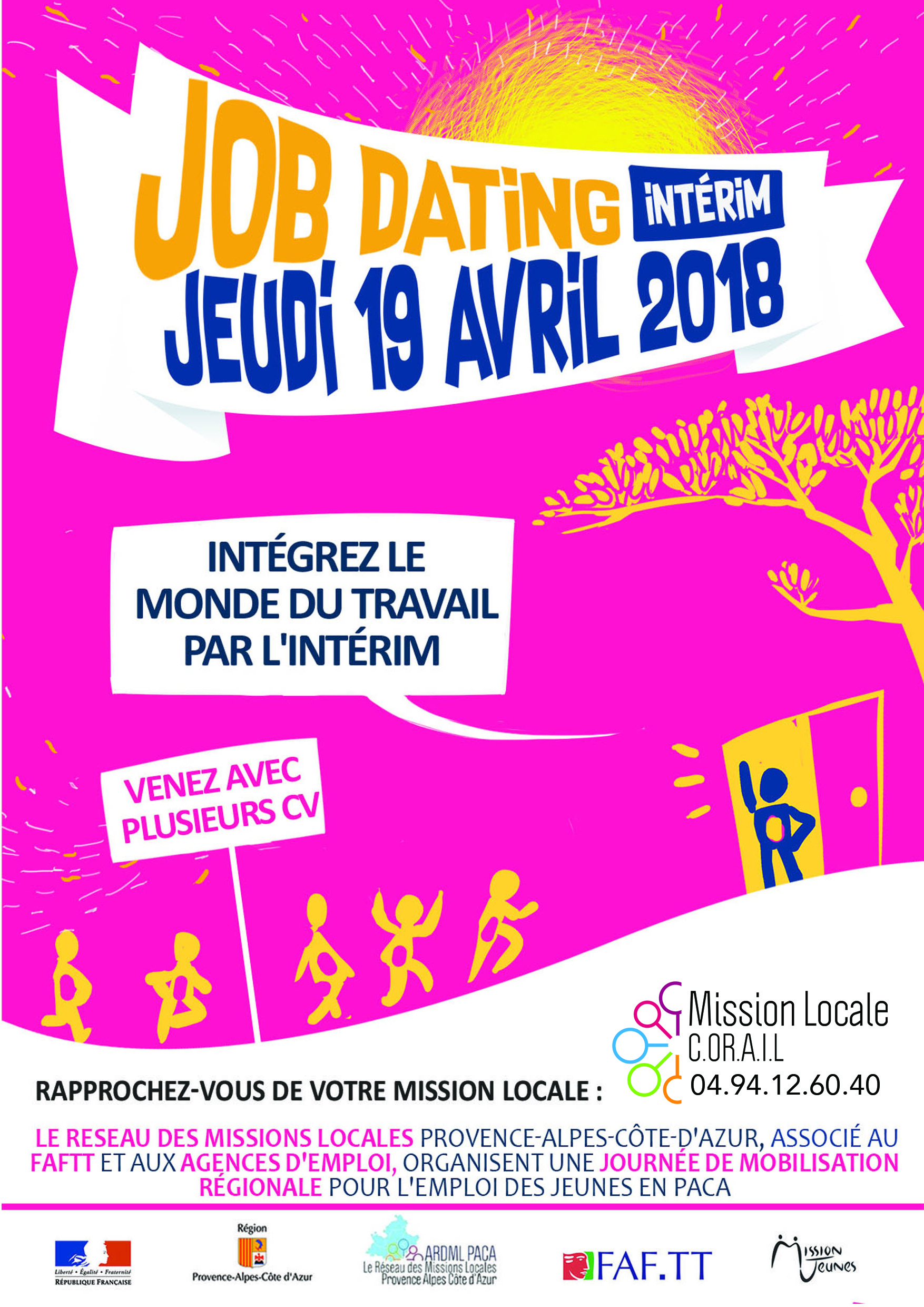 Flyer job dating interim 19 avril 2018