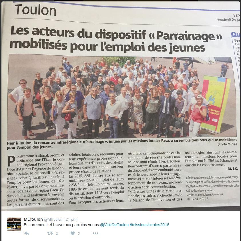 Rencontre infra régionale du parrainage à Toulon
